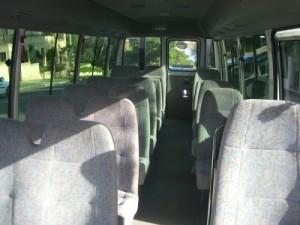 interior of 16 seat minibus
