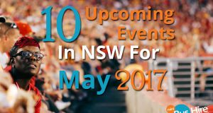 10 Upcoming Events In NSW For May 2017